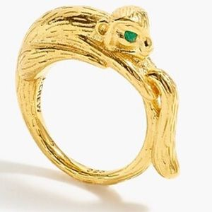 J.Crew 14k gold-plated monkey ring
